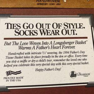 Longaberger Accents - Longaberger tissue basket Father's Day 1994